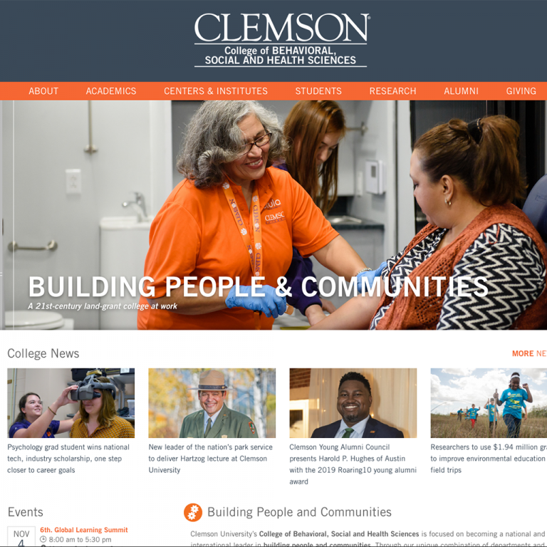 Clemson University College of Behavioral, Social and Health Sciences