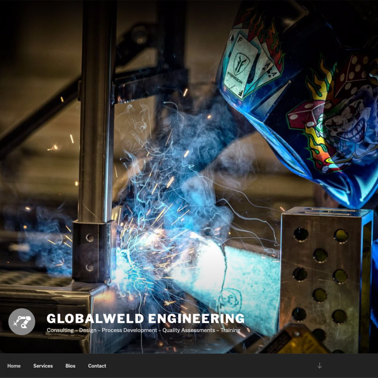Website Design and Development Example for Global Weld Engineering